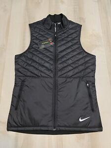 NIKE Aerolayer Black Running Vest Full Zip Men's CJ5478 010 Size Medium