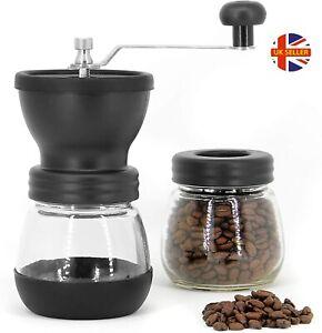 Manual Coffee Grinder, Premium Adjustable Coarseness Ceramic Burr