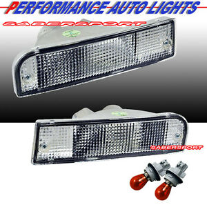 Pair Eagle Eyes Front Park Signal Bumper Lights for 1992-1995 Toyota 4Runner