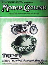 Jan 17 1957 Triumph Motor Cycle ADVERT - Magazine Cover Print