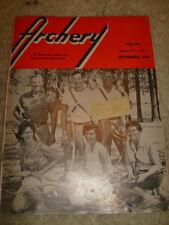 Vintage Archery Magazine - September, 1959