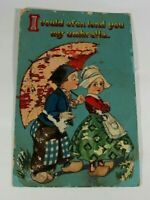 Vintage Funny Greeting Card Early 1900s Rare Posted Antique Postcard Collectible