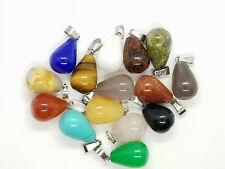 Waterdrop Teardrop Peardrop Quartz Reiki Energy Pendant Necklace Healing Stone