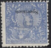 NSW92) New South Wales 1890 Centenary perf 10,  20/- Cobalt-blue ovpt
