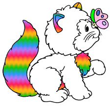 "Rainbow brite wall decal kitty brite cat birthday decor cut out 9.5"" inch"