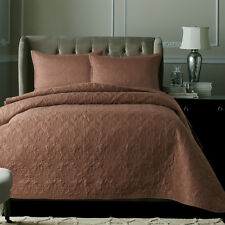 Cotton Patchwork Coverlet Quilted Bedspread Set Queen King Size Bed Pillowcase