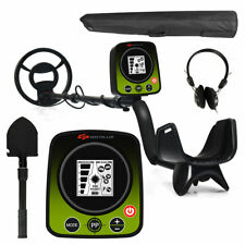 High Accuracy Metal Detector w/Waterproof Search Coil Back-lit Lcd Headphone Bag