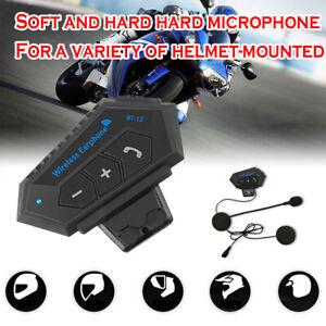 BT-12 Bluetooth Motorcycle Helmet Headphone Interphone Motorbike Headset FM GPS