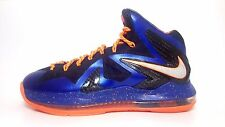 "NEW Men's Nike Lebron X PS ""Superhero"" Elite Blue Orange Black 578827-400 sz 8"