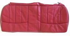 Classic Mini Rear Seat Cushion Cover - Tartan Red Leather/Cumulus - HPA105940RLH