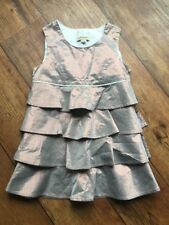 Bnwot Burberry Dress Layered Age 4 104cm Shiny Pink Shimmer Side Zip Ruffle
