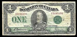 Canada - Old 1 Dollar Note - 1923 - P33j - FINE