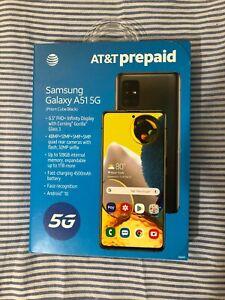 AT&T Prepaid Samsung Galaxy A51 5G: 128GB - Prism Cube Black (SM-A516U)