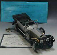 FRANKLIN MINT 1925 ROLLS ROYCE SILVER GHOST CAR DIE CAST 1:24 SCALE COA