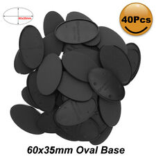 MB660 20pcs/40pcs Oval Bases 60X35mm Oval Base Plastic Bases For Mini War Games