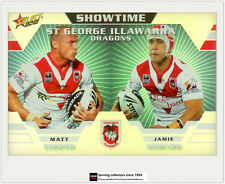 2012 Select NRL Champions Showtime Holochrome Card ST12 Cooper/Soward (Dragon)