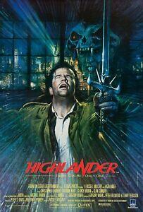 Poster HIGHLANDER - 80's FILM CULT CHRISTOPHER LAMBERT SEAN CONNERY QUEEN Movie