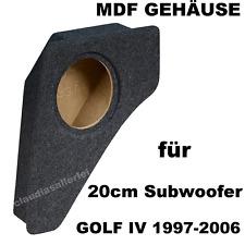 VW Golf 4 1997-2006 für linker Radkasten Leergehäuse MDF Leerkiste für 20cm Bass