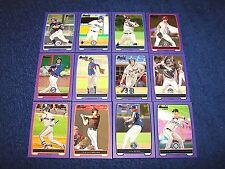 2012 BOWMAN BASEBALL PROSPECTS 12 DIFFERENT PURPLE PARALLEL CARDS (K417-2)