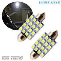 Kit 2 Ampoules LED navette universelle 39MM Super bright blanc xenon 16SMD LED