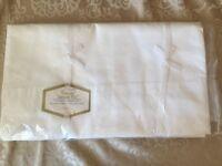 "New Vintage Warmsutta SuperCale Plus White Sheet Flat 72""x 104"" Fr Ship"