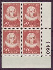Grönland 1958 postfrisch  VB Eckrand MiNr. 42    200. Todestag von Hans Egede
