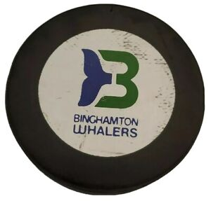 BINGHAMTON WHALERS AHL APPROVED OFFICIAL HOCKEY PUCK INGLASCO 🇨🇦