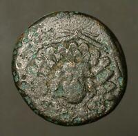 G35-41 Amisos, Pontos.  Mithradates VI, c.85-65BC, Aegis with Gorgon head / Nike