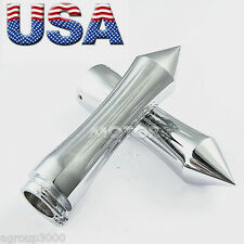 "Pair CHROME BILLET TRIBAL SPIKE 26mm 1"" HAND GRIPS for Harley Davidson 1970~2013"
