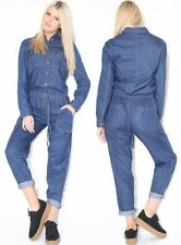 Cotton Collared Long Sleeve Jumpsuits & Playsuits for Women