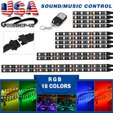 Music Sensor Motorcycle Multi-color 18 Colors RGB LED Strip Light - 12PCS Kit US