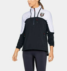 Under Armour Womens USA Pride Storm Cold Gear Track Jacket Hooded Windbreaker S