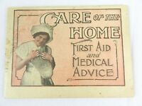 Care of The Home First Aid and Medical Advice Booklet Invalids Hotel Dr Pierce
