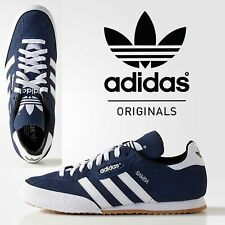 9edf2554de0277 adidas Samba Super Suede Shoes Retro Sneaker Navy White 019332 Handball  Smith UK 7