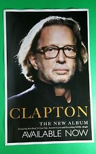 Eric Clapton Double Sided Face Photo Promo 11x17 Music Poster