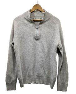 Country Road Men's Grey Wool Jumper Size M - 100% Lambs Wool
