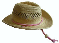 "Straw Cowboy Cowgirl Western Hat for 18"" American Girl Doll Clothes"