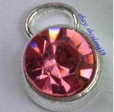 10pcs tibetan silver crystal  charms SH898