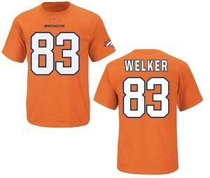 NFL T-Shirt Denver Broncos Wes Welker 83 Eligible Receiver Orange Football