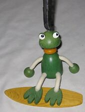 """Humor 6"""" Green Frog Spring Puppet Doll Figurine Toy"""