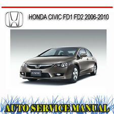 HONDA CIVIC FD1 FD2 2006-2010 SERVICE REPAIR MANUAL ~ DVD