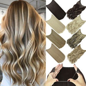 Secret Wire In Hair Extensions Hidden Halos Invisible Band Natural as Human