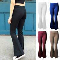 Pantalon large évasé à taille haute pour femmes Pantalons Bell Bell Yoga