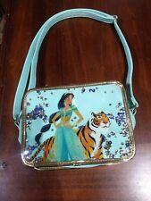 DIsney collection ALADDIN teal purse hand Bag Princess Jasmine Raja tiger sequin