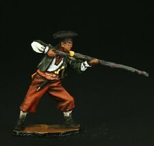 Pirate with rifle Tin toy soldier 54 mm,metal sculpture