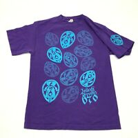 VINTAGE Island Trends 670 Shirt Size Small Purple Blue Short Sleeve Graphic Tee