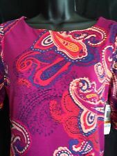 NWT! Charter Club Womens Petite S/M Shirt Top Pull Over Scoop Neck Paisley $59.