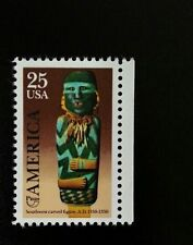 1989 25c Pre-Columbian America, Southwest Carved Figures Scott 2426 Mint F/VF NH
