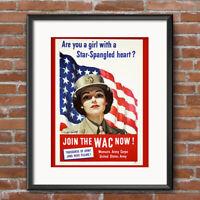 Women's Army Corps - World War II Vintage Recruiting Poster Print Decor Art 580