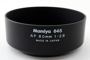 【TOP MINT】 Mamiya Plastic Lens Hood Shade For AF 645 80mm f/2.8 From Japan #0955